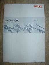 Reparaturanleitung für Stihl MS 660, MS 650 auch für 066 + Teilelisten