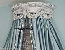 SHABBY ANTIQUE WHITE BED CROWN FRENCH REGENCY WALL CANOPY CHIC VINTAGE STYLE NEW