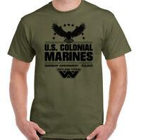Alien T-Shirt US Colonial Marines Mens Prometheus Covenant Nostromo Weyland Top