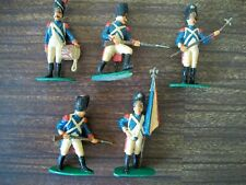 FIVE NICELY PAINTED AIRFIX 54MM NAPOLEONIC FRENCH LINE INFANTRY  Lot 1