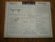 1955 Dodge Six D-54-1 D-54-2 D-54-4 A E A Tune-Up System Vintage DO-55