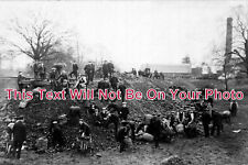 DR 422 - Coal Picking During Coal Strike, Ilkeston, Derbyshire 1912 - 6x4 Photo