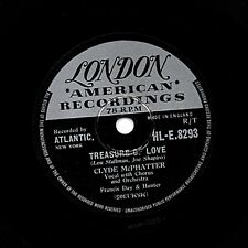 "UK #27 CLYDE McPHATTER DOO-WOP CLASSIC 78 "" TREASURE OF LOVE"" LONDON HLE 8293 Vg"