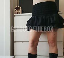 Zara black frilled mini skirt elastic waist ruffled hem Size S & M BNWT Sold out