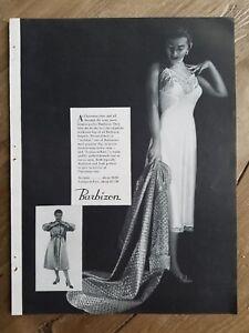 1953 women's Barbizon White lace trim slip vintage lingerie fashion ad