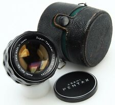 Asahi Super Takumar 50mm f1.4 mf M42 mt. lens,caps,case  #362610