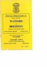 Watford v Brighton 1965/66 Division 3 postponed match