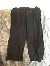 Simply be slant pocket brown cotton linen mix summer beach trousers size 18