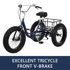 Adult Tricycle 1/7 Speed 3-Wheel For Shopping W/ Installation Tools Blue 👍👍👍