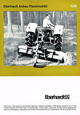 Eberhardt Anbau- Planierschild TPB, orig. Prospekt 1968