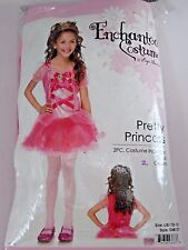 Size L/10-12 Pink Princess Girl Child Dress Up Costume Halloween Party Birthday