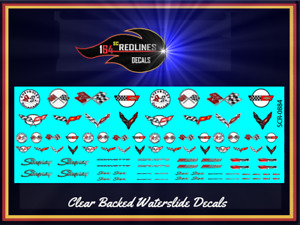 "1/64 ""Corvette"" Assorted Emblems Decal SCR-0884"