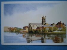 POSTCARD WORCESTERSHIRE WORCESTER CATHEDRAL WATERCOLOUR