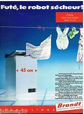 Publicité Advertising 1988 Le Sèche Linge Brandt