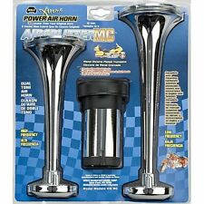 Wolo Air Horn Two Metal Chrome Trumpets for Motorcycles 415-MC