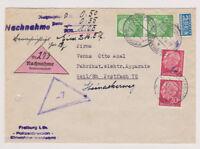 BUND, Mi. 183, 185 NN-Freiburg/Br., 23.5.55, Faltbug