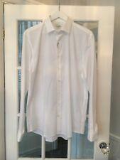 Calvin Klein Smart Slim Pop White Men's Shirt Size 17r *marked*