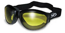 Motorcycle REACTALIGHT Goggles Shatterproof Padded Yellow Lens Cruiser Trike