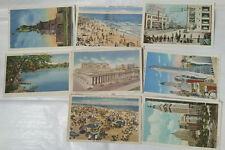 (8) NEW YORK Theme Postcards 1935-38 MINT PERFECT! Posted w Stamps Pc Of History