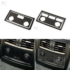 Real Carbon Fiber Rear Air Outlet Vent Frame Sticker for BMW 5 Series E60 E61