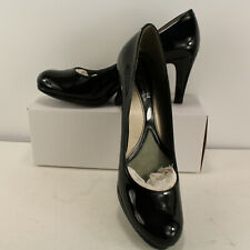 Naturalizer Womens Sz 9.5 M Lennox Comfort Black Patent Pumps Heels Round Toe N5
