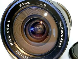 Vivitar 20mm f3.8 FD manual lens adapted to Canon EOS EF cameras T7i T8 80D