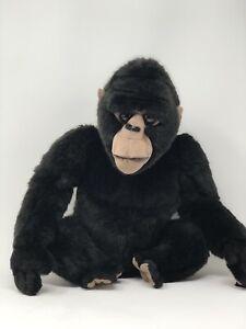 "Toys R Us Animal Ally Plush Gorilla 2000 - Stuffed Animal Black Monkey 15"""
