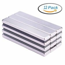Neodymium Bar Magnets(12 Pieces), Strong Rare Earth Rectangular Block Neodymium