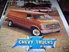 1980 Chevy Vans Brochure
