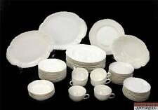 50pc Early 1900s White Haviland Limoges Set Platters Plates Cups Saucers Marked