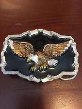 Great American Buckle Company 1983 Eagle Belt Buckle Enamel Serial #