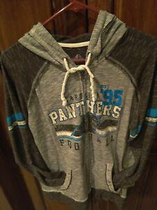 Carolina Panthers Majestic Fan Fashion Full Zip Hoodie Jacket size Women's XL