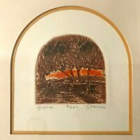 """""""Grove"""" Block Print SIGNED, Beautifully Matted & Framed, Numbered , LTD Ed"""