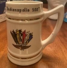 RARE VINTAGE 1984 Indy 500 Indianapolis LEWIS BROS CERAMIC Beer STEIN MUG USA!!