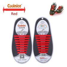 [x2] perezoso no-Tie Elástico Silicona Cordones Zapato de anclaje por coolnice: Zapatillas Zapatos