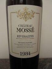 1 bottle  MUSE ARCHIVISTE RIVESALTES 1934 CHATEAU DE MOSSE ( da gennaio 2017 )