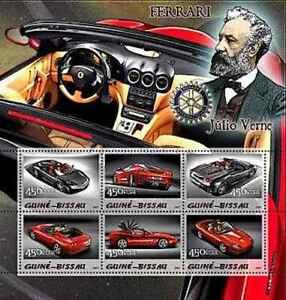 Timbres Voitures Ferrari Guinée Bissau 1641/1646 ** (55009BM) - cote: 12 €