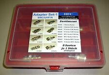 Adaptateur Assortiment (8 pièces) - set 1 BNC/uhf/N - 8 variétés par 1 pièces