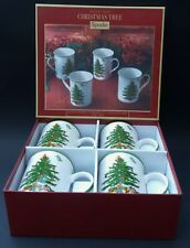 BOXED NEW FOUR SPODE CHRISTMAS TREE MUGS