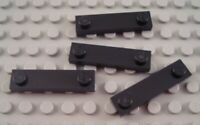 New LEGO Lot of 4 Black 1x4 Edge Stud Specialty Plate Pieces