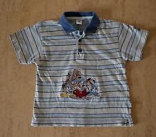 ♥ Shirt Poloshirt Hemd 98 104 Mickey Mouse bestickt Disney beige blau ♥ღ♥