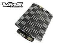 "VMS RACING GUNMETAL HIGH FLOW 3"" COLD AIR RAM INTAKE CONE FILTER FOR FORD"