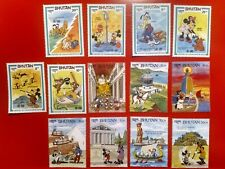 Lot Of 20 Bhutan 3-D And Disney Stamps