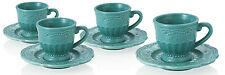 BRANDANI TAZZINA CAFFE' C/PIATTINO PROVENZALE TIFFANY SET 4 PEZZI IN DOLOMITE