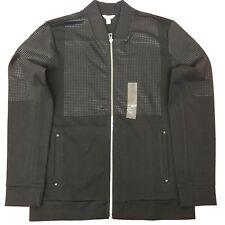 Calvin Klein Mens Jacket Ck Bomber Black Medium M Slim Fit Parlty Check Printed
