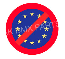 Anti EU Car Sticker 4in Election Trump Le Penn Brexit Euro Eurosceptic