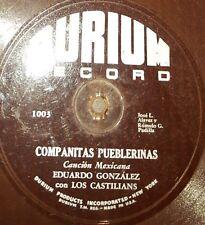ETHNIC 78 rpm RECORD Durium Flexible EDUARDO GONZALEZ & LOS CASTILIANS Mexican
