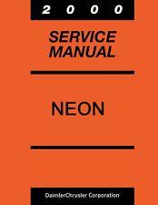2000 Dodge Neon Plymouth Neon Shop Service Repair Manual Book Engine Wiring OEM