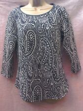 marks and Spencer top size 12 paisley style gold black party evening