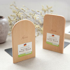 Simple Wood Japanese Style Nature Beech Wood Book Stand Bookend Book End Shelf